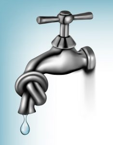 water_tap_closed_blue_background