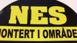 NES montert i området-merke